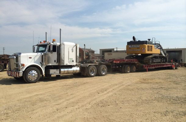 Transportation of construction equipment